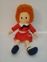 Vintage Annie Doll Plush 1982 by Knickerbocker 16 inch Orphan Annie in Red Dress - $29.99