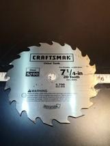 """Vintage Craftsman 7-1/4"""" 20 Tooth Saw Blade Steel S100 NEW!! UNUSED!!! (... - $23.38"""