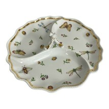 Primavera By I. Godinger & Co 3-Section Server-Dragonfly Butterfly Flowe... - $38.52