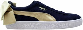 Puma Suede Bow Varsity Peacoat/Metallic Gold  367732 02 Women's Size 8 - $80.00