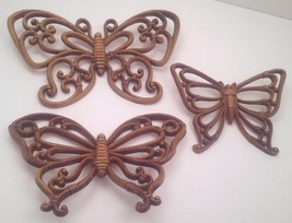 3 Wall Hanging Butterflies By Dart Ind~Homco~Home Interiors Decor Butterfly - $13.98