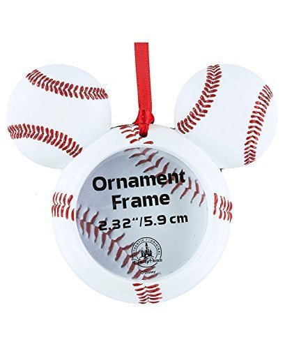 Disney Parks Mickey Mouse Baseball Photo Frame Ornament