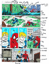 1 of kind original 1992 Fantastic Four Marvel color guide art:Amazing Sp... - $99.50