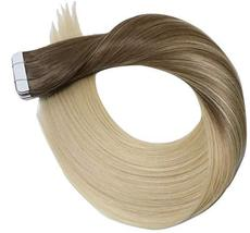 14Inch Tape in Hair Extensions Skin Weft Real Human Hair Extensions Double Sided image 2