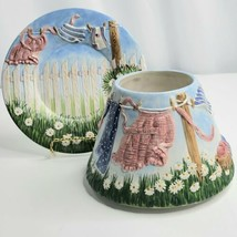 Yankee Candle Topper and Plate Laundry Day Spring Summer Americana Cloth... - $49.49