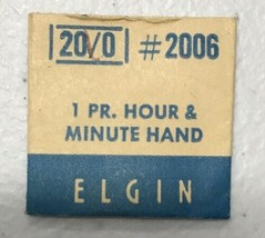 Elgin  #2006 20/0 pair hr & minute hands NOS - $6.64