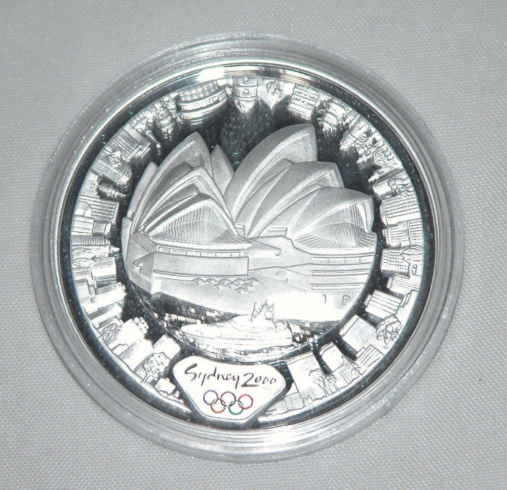 Primary image for 2000 $5 Olympics Sydney Opera House, Silver Proof Coin, Free Shipping U.S.A.
