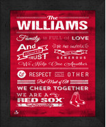 """Personalized Boston Red Sox """"Family Cheer"""" 13 x 16 Framed Print - $39.95"""