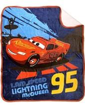 "CARS LIGHTNING MCQUEEN BOYS BABY SHERPA THROW BLANKET SOFTY WARM (50""x60"") - $39.19"