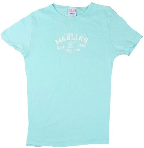 Medium Junior Women's Florida Marlins Tee MLB Shirt by Lady Slugger T-Shirt NEW