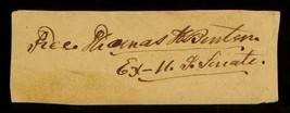 US Senator Missouri Thomas Hart Benton Signed Autographed Cut Signature ... - $197.95