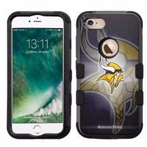 for Apple iPhone 8 Impact Armor Rugged Hard Hybrid Case Minnesota Viking... - $18.65