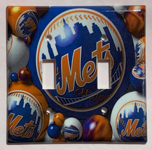 New York NY Mets Baseball Light Switch Power Outlet Wall Cover Plate Home decor image 4