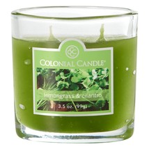 Colonial Candle Lemongrass and Cilantro 3.5 oz. Jar Candle 2 Wicks - $8.00