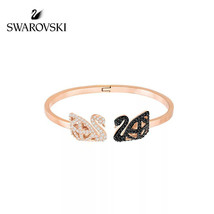 Swarovski FACET SWAN bracelet jewelry gift 18k gold plated Best Gift - $36.27