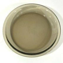 Vintage Anchor Ovenware Glass Pie Plate Dish Smoky Brown Amber 9 inch - €13,86 EUR