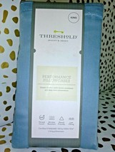 Threshold Performance Solid Pillowcases 400 Thread Count, Blue, King free ship image 2