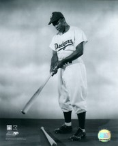 Jackie Robinson 8X10 Photo Brooklyn Dodgers Baseball Picture With Bat - $3.95