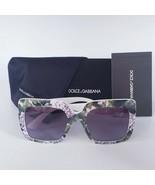 DOLCE & GABBANA DG4310 Hydrangea Print On White Sunglasses NEW AUTHENTIC - $179.95