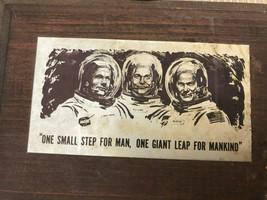 """Apollo 11 Mond Landing Klein Holz Tafel 1969 1.2mX5 """" Vinatge Eine Klein... - $18.79"""