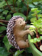 New Garden Decor Miniature Fairy Garden ~ Hedgehod Flower Pot Hugger - $12.00