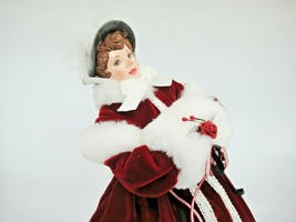 Simpich Character Dolls Victorian Ice Skater Evalyn Jane Burgundy Coat M... - $296.01