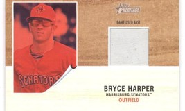 2011 Topps Heritage Minor League Bryce Harper Game Used Base Red Tint /99 - $99.99