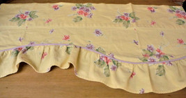 Waverly Valance Garden Room Cottage Collection Field of Flowers Yellow P... - $24.49