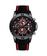 Mini Focus Men's Silicone Chronograph Quartz Wrist Watch MF0244G (Black ... - $40.00