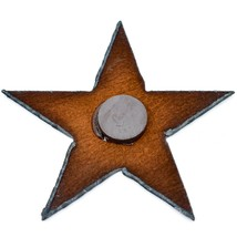 "Rustic Country Western Rusted Patina Iron Metal Cutout Star 3.5"" Fridge Magnet image 2"
