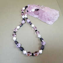 Woman's Unique Pink necklace, Mauve, Protection from evil eye, Handpaint... - $32.00
