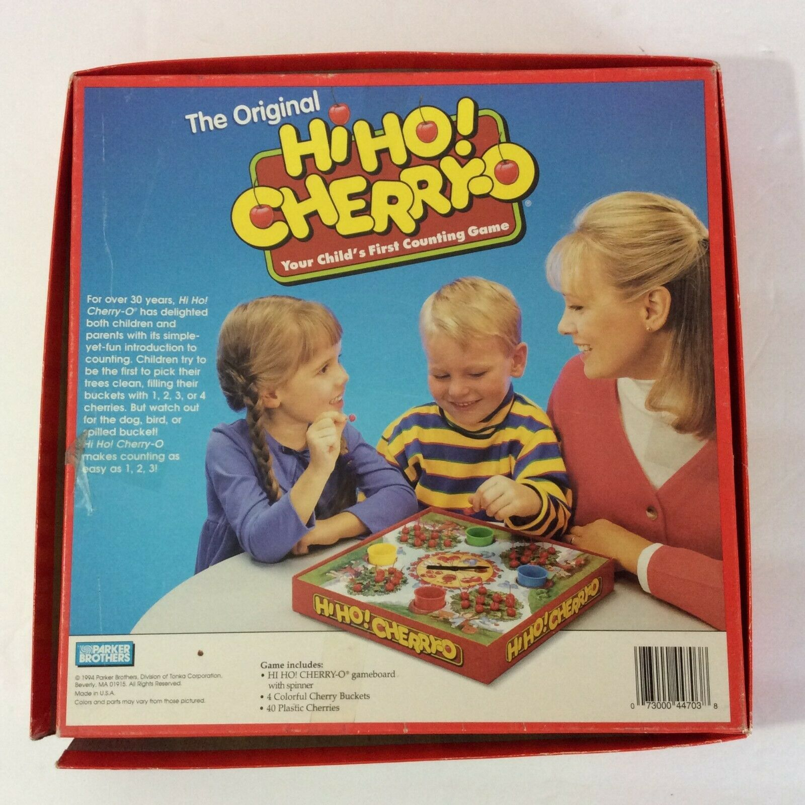 Parker Brothers Hi-Ho Cherry-O Childrens Game 1994 Complete