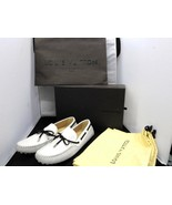 Louis Vuitton Auth driving shoes loafers shoes leather white LV 8 - $753.49