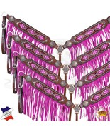 Hilason Western Horse Breast Collar American Leather Pink Fringes U-K-BC - $59.39