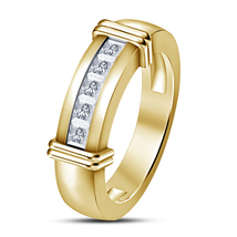Princess Cut Diamond Mens Wedding Engagement Pinky Ring in 925 Sterling ... - £65.26 GBP