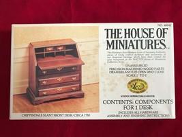 The House of Miniatures No 40042 Chippendale Slant Front Desk Kit 1:1 Sc... - $12.19