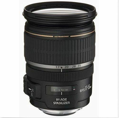 Canon EF-S 17-55mm f/2.8 IS USM Zoom camera Lens Displayed