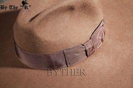 ByTheR Unisex Modern Chic Classic Style Floppy Wide Brim Wool Felt Fedora Hat image 6