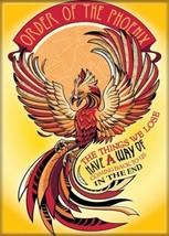 Harry Potter Order of the Phoenix Phrase Image Refrigerator Magnet NEW UNUSED - $3.99