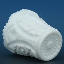 Vintage Imperial Milk Glass Octagon Pattern Toothpick Holder image 3
