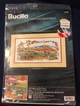 "Bucilla ""Autumn on the Farm"" Counted Cross Stitch Kit -1997 - New Sealed... - $69.99"