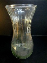 """Vintage Hoosier Glass Vase Large Clear Pressed Glass  4086-A 8 1/2""""x4 1/2"""" - $10.40"""