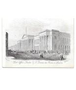 Post Office London Steel LIne Engraving 1851 J T Wood Views of London Print - $9.95