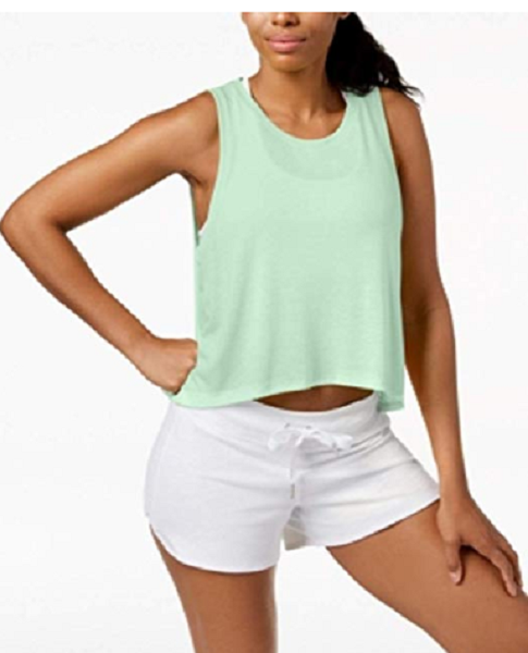 Calvin Klein Performance Epic Knit High-Low Tank Top, Size S, MSRP $28