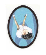 Bettie Page Spread Legs in the Air Silk Screened Patch, NEW UNUSED - $7.84