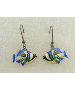 TROPICAL FISH Colorful Enamel Sterling Silver Vintage Drop Dangle EARRINGS - ₹5,668.35 INR