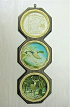 "Wall Plaque Metal Minnesota Souvenir Plates 3-6/8"" diameter 1960's - $10.95"