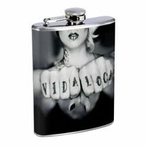 Chola Pin Up Girls D19 Flask 8oz Stainless Steel Hip Drinking Whiskey Gangsta - $12.82