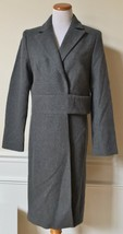 NWT EXPRESS Charcoal Gray Wool Trench Coat Long Sleeve Fully Lined 9/10 ... - $49.49
