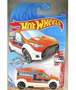 2020 Hot Wheels #218 HW Rescue 8/10 HOT WHEELS FORD TRANSIT CONNECT Oran... - $6.95
